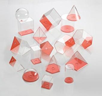GEO VOLUME SET (Clear Plastic, 10cm, 17 pcs. with lid).
