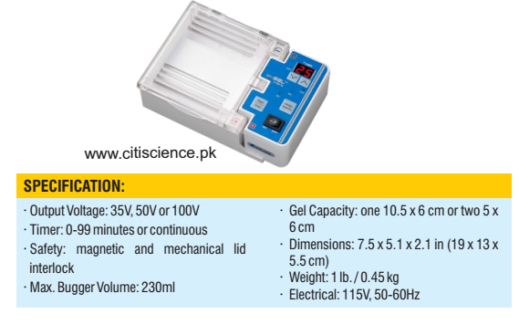 Gel electrophoresis with power supply