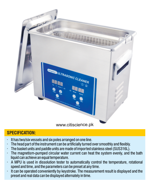 Tablet dissolution tester, LCD Display