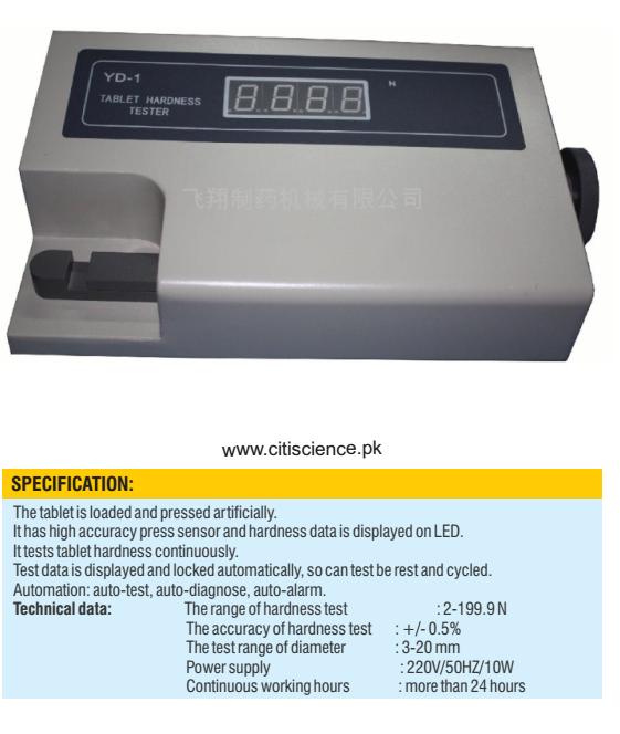 Tablet Hardness Tester Digital